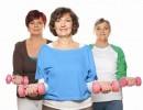 Three Women Lifting Weights